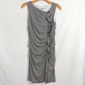 Joseph Ribkoff Black and White Striped Dress
